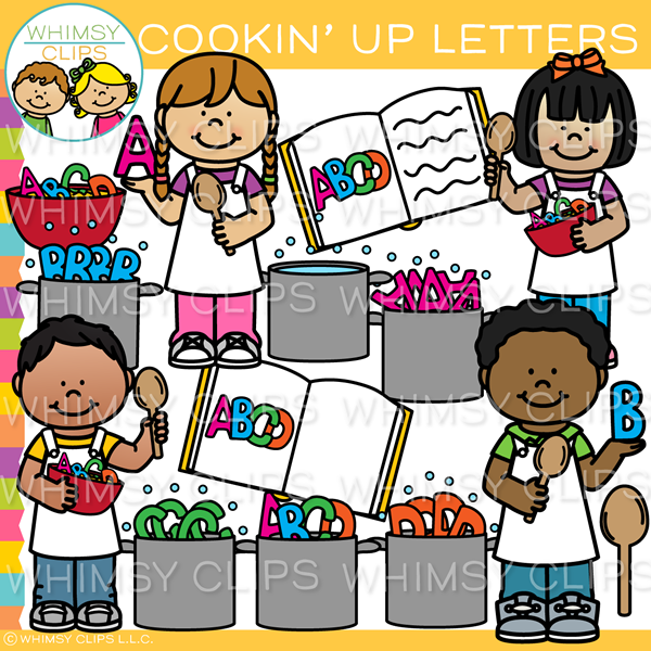 Cookin' Up Letters Clip Art