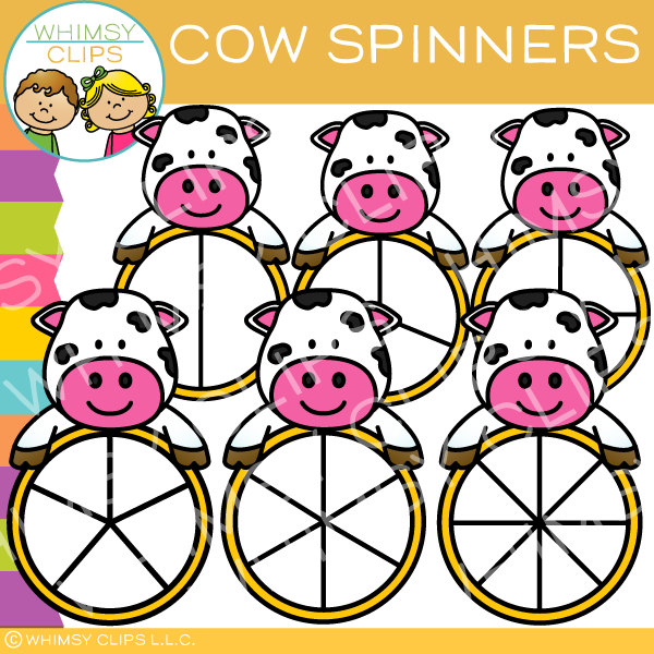 Cute Cow Spinners Clip Art
