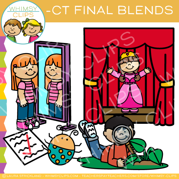 Ending Blends -CT Words Clip Art