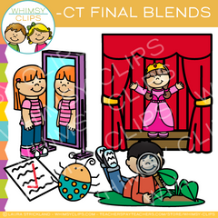 Ending Blends Clip Art - CT Words