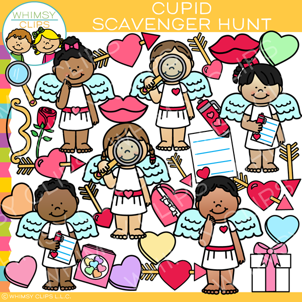 Cupid Scavenger Hunt Clip Art