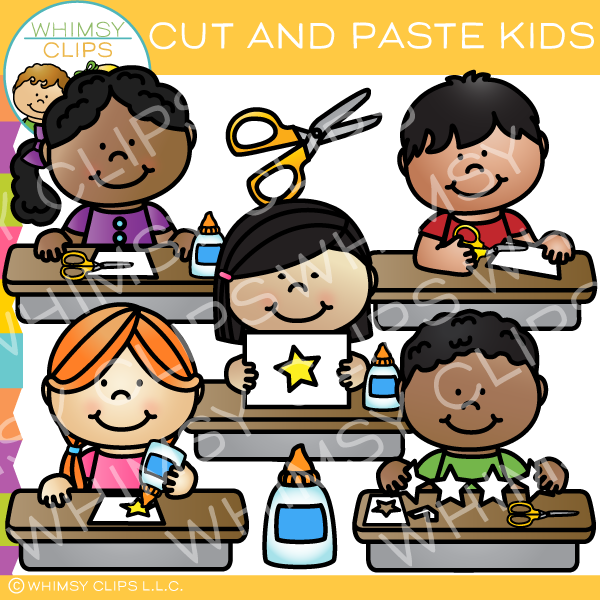 Cut and Paste Kids Clip Art