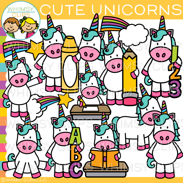 Cute Unicorn Clip Art