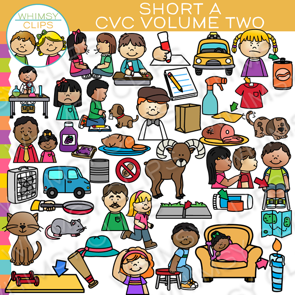 Short A CVC Clip Art - Volume Two