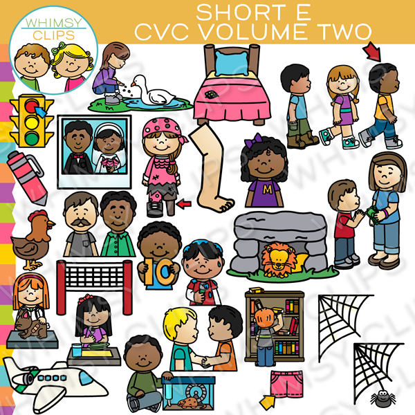 Short E CVC Clip Art - Volume Two