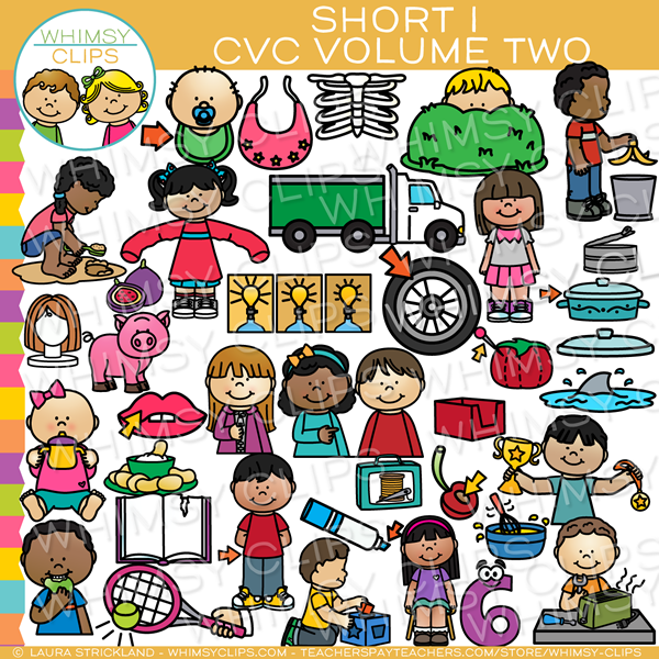 Short I CVC Clip Art - Volume Two