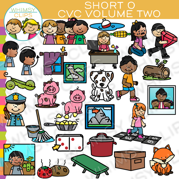 Short O CVC Clip Art - Volume Two