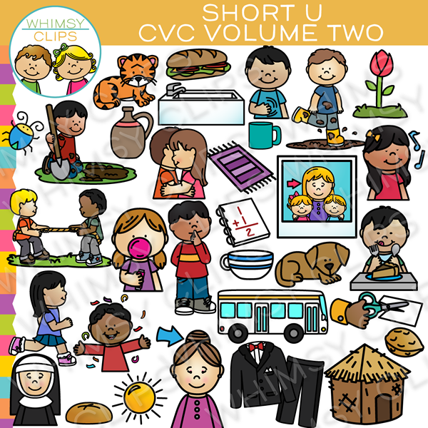 Short U CVC Clip Art - Volume Two