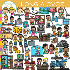 CVCe Long A Word Family Clip Art