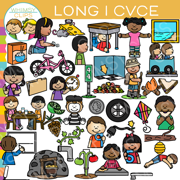 cvce long vowel word family clip art images illustrations rh whimsyclips com clip art of family prayer clipart of family get together