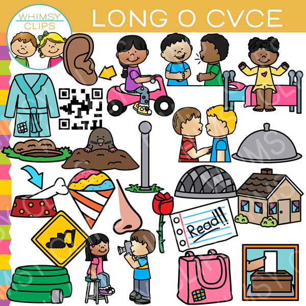 CVCe Long O Word Family Clip Art