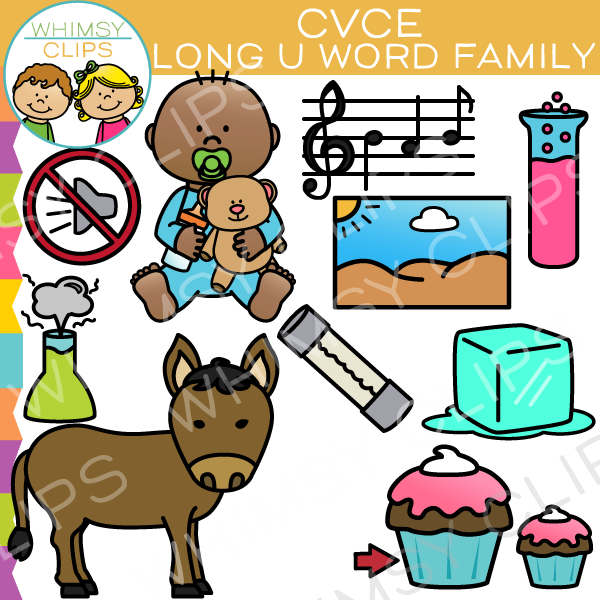 CVCe Long U Word Family Clip Art
