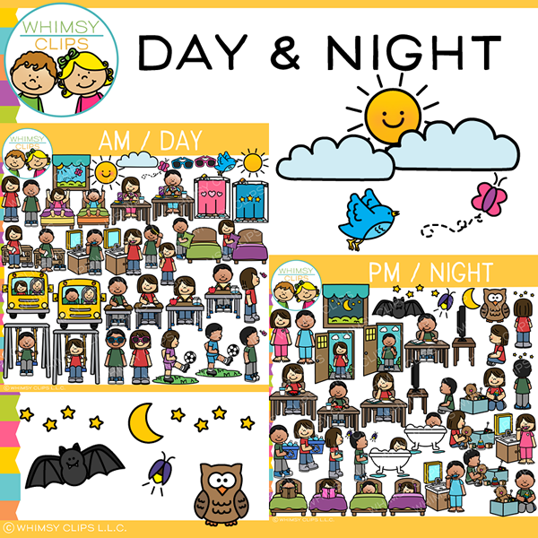 Day and Night Clip Art