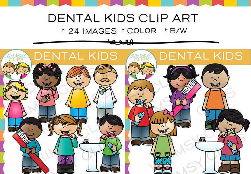 Dental Kids Clip Art