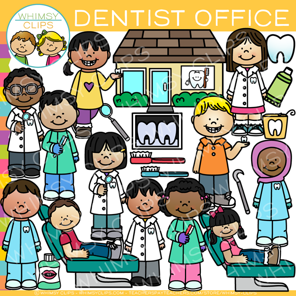 Kids Dentist Office Clip Art