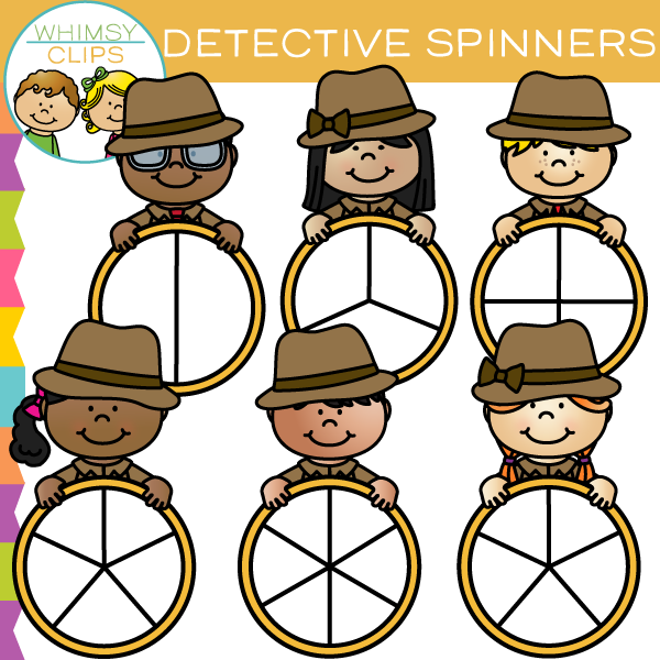 Detective Kids Spinners Clip Art