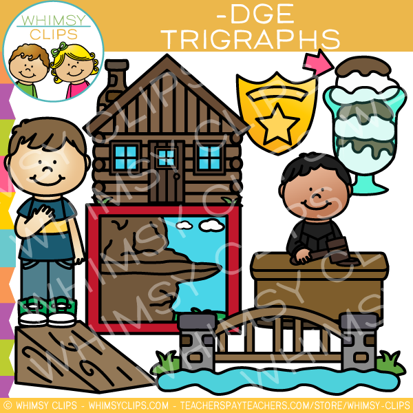 Ending Trigraph Clip Art -DGE Words
