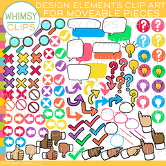 Design Elements Moveable Clip Art