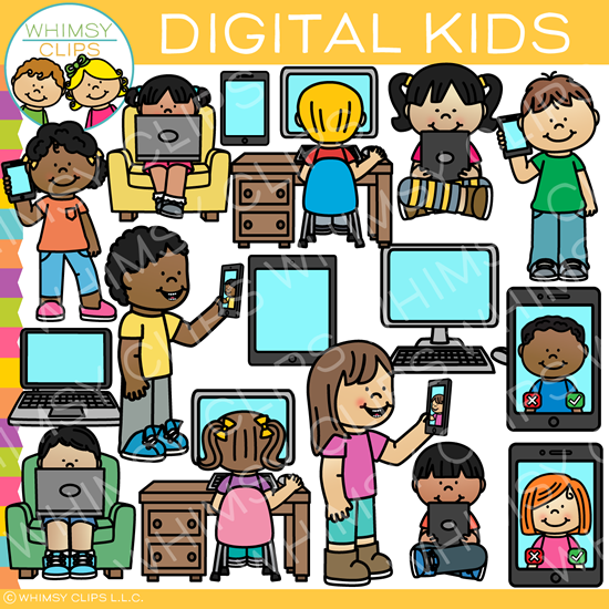 Digital Kids Clip Art