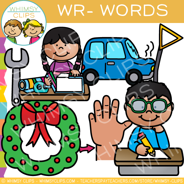 Wr- Words Clip Art