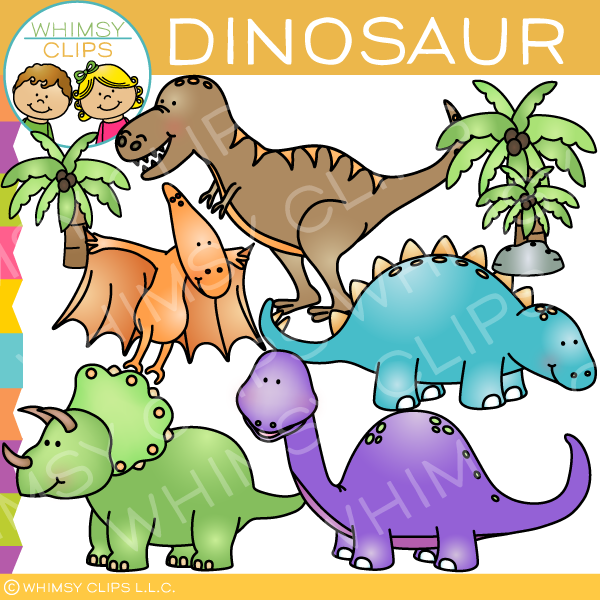 Dinosaurs Clip Art , Images & Illustrations | Whimsy Clips