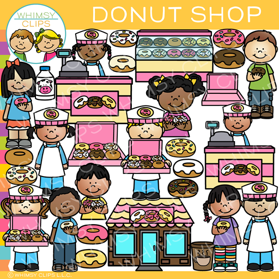 Fun Donut Shop Clip Art