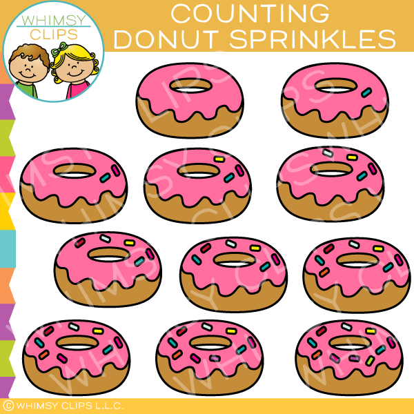 Donut Counting Clip Art