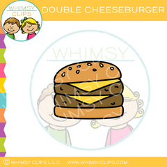 Double Cheeseburger Clip Art