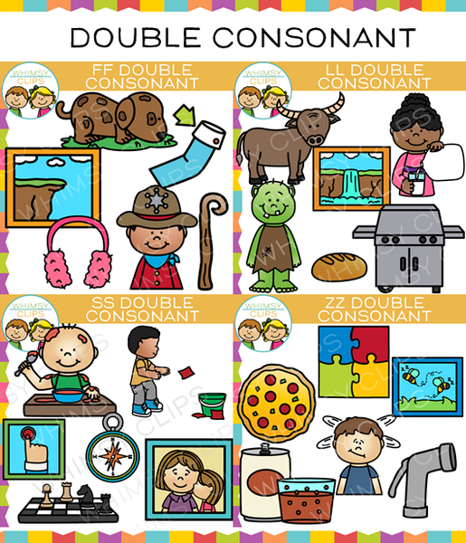 Double Consonant Clip Art Bundle