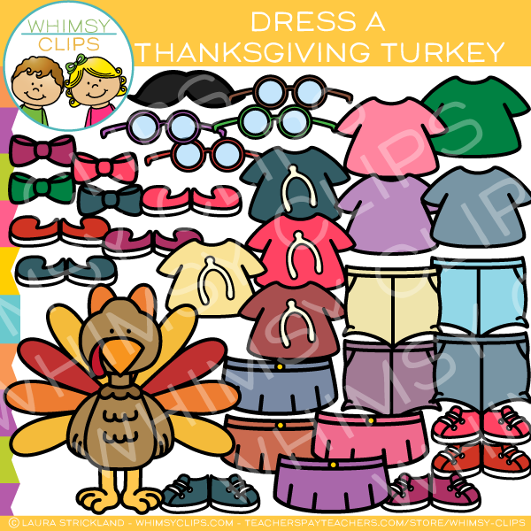 Dress a Thanksgiving Turkey Clip Art
