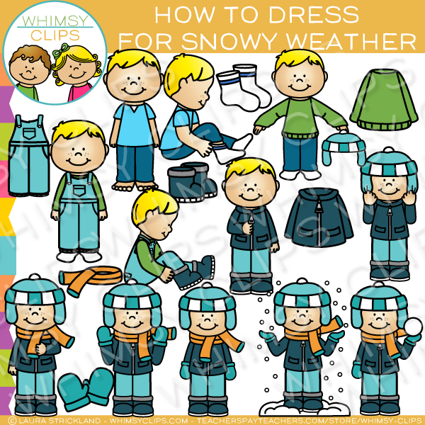 How to Dress for Winter Weather Clip Art