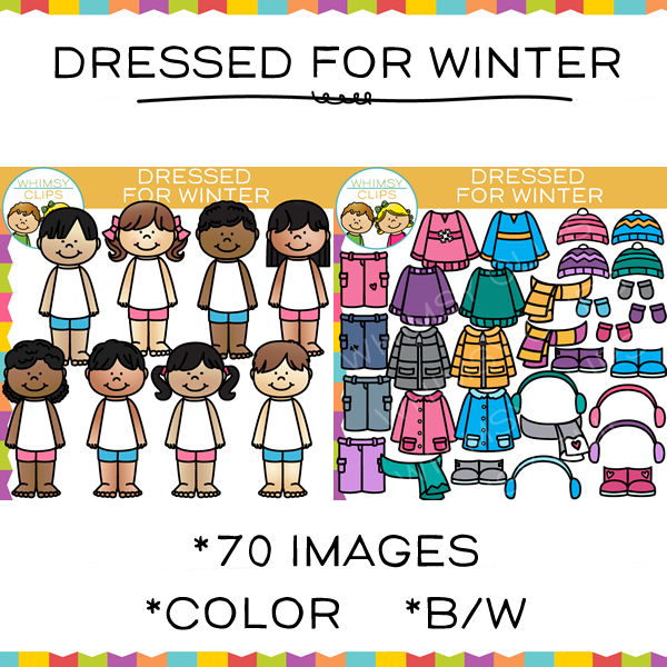 Dress for Winter Clip Art
