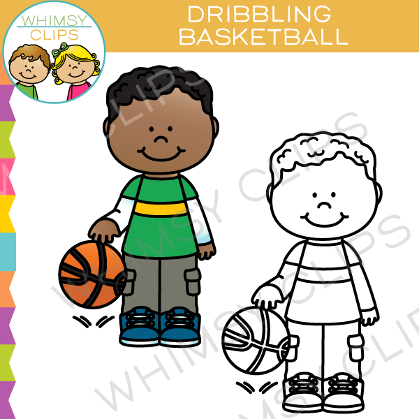 Dribbling Basketball Clip Art