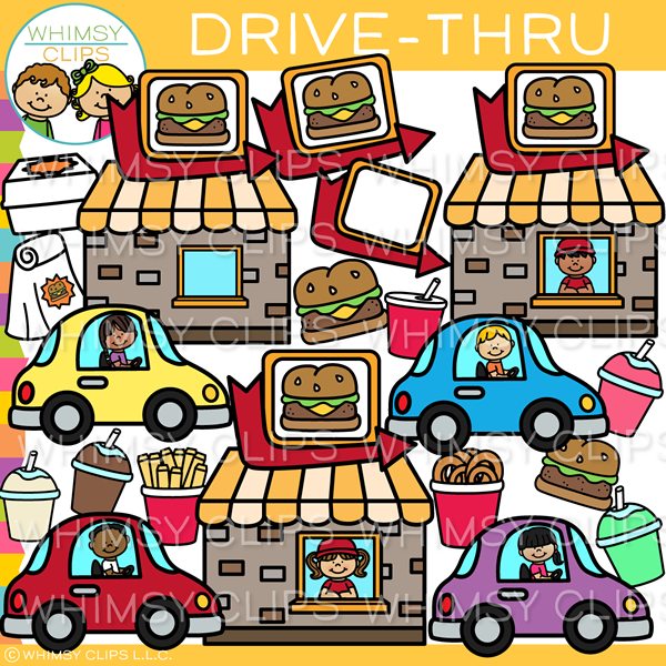 Fast Food Drive-Thru Clip Art