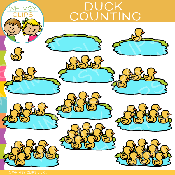 Duck Counting Clip Art