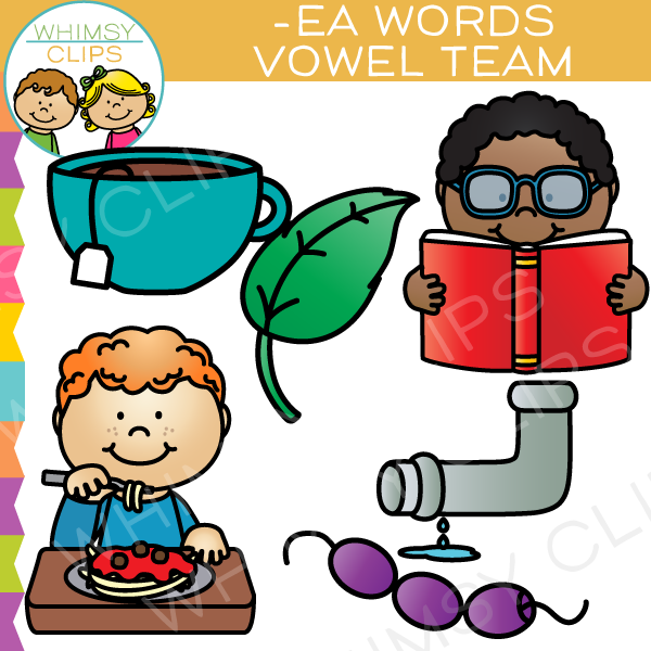 Vowel Teams Clip Art - EA Words