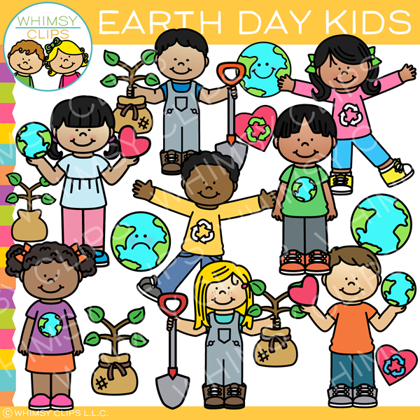 Earth Day Kids Clip Art