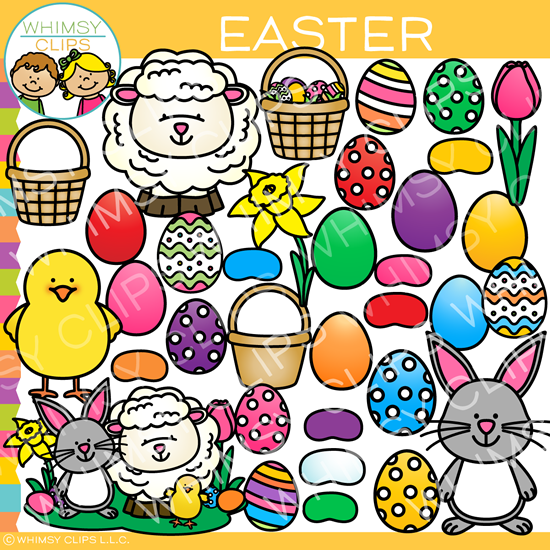 Easter Pieces Clip Art