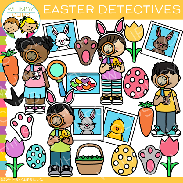 Easter Detectives Clip Art
