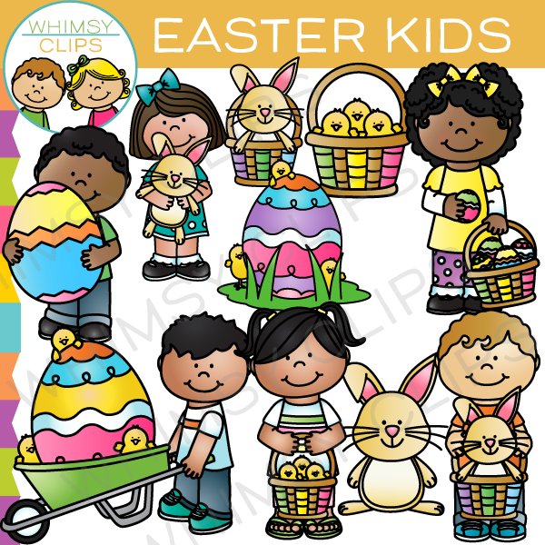 Easter Kids Clip Art , Images & Illustrations | Whimsy Clips