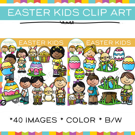 Easter Kids Clip Art