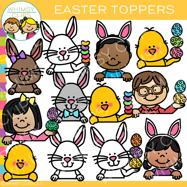 Easter Toppers Clip Art