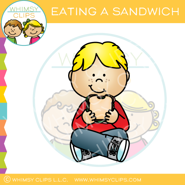 Eating Sandwich Clip Art