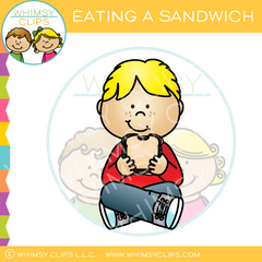 Eating a Sandwich Clip Art