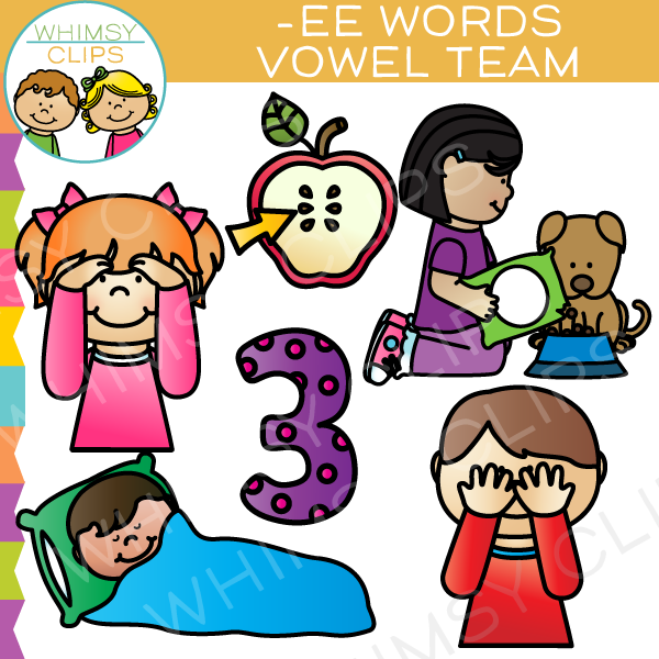 Vowel Teams Clip Art - EE Words