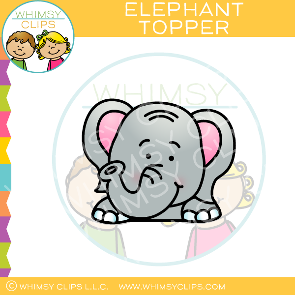 Elephant Page Topper Clip Art