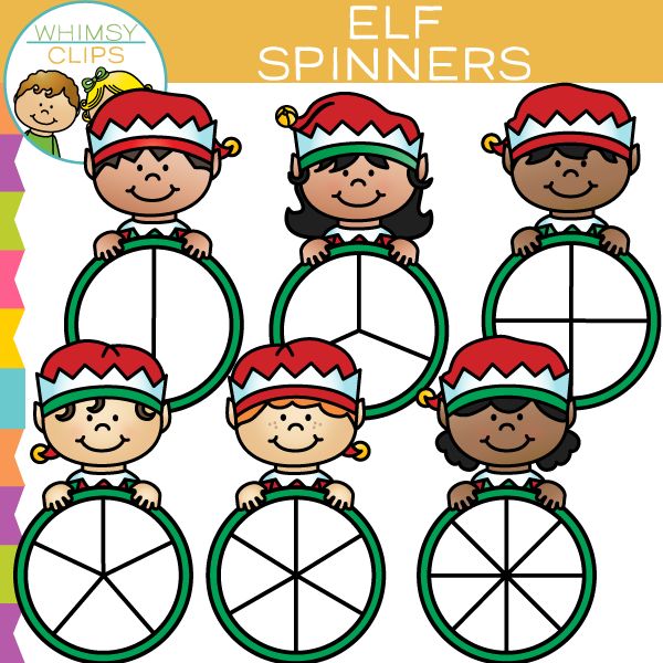 Elf Spinners Clip Art