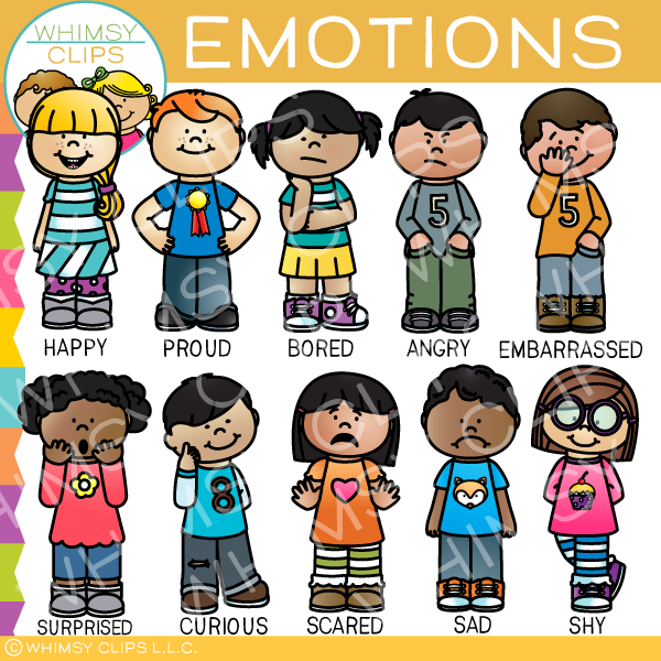 Clip Art Emotions Clipart kids emotions clip art images illustrations whimsy clips art