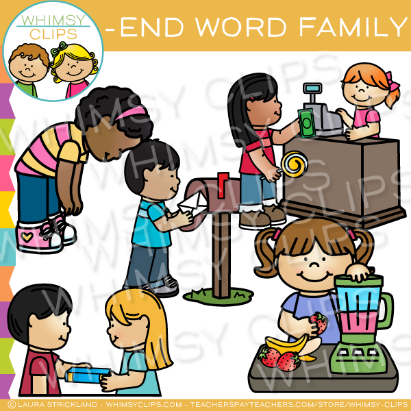 -end Word Family Clip Art