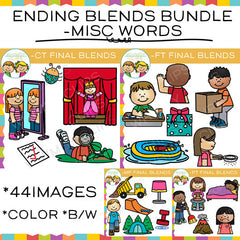Ending Blends Clip Art Bundle - Misc. Words